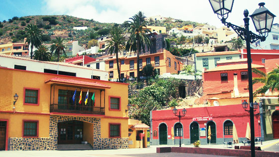 Town square from Vallehermoso